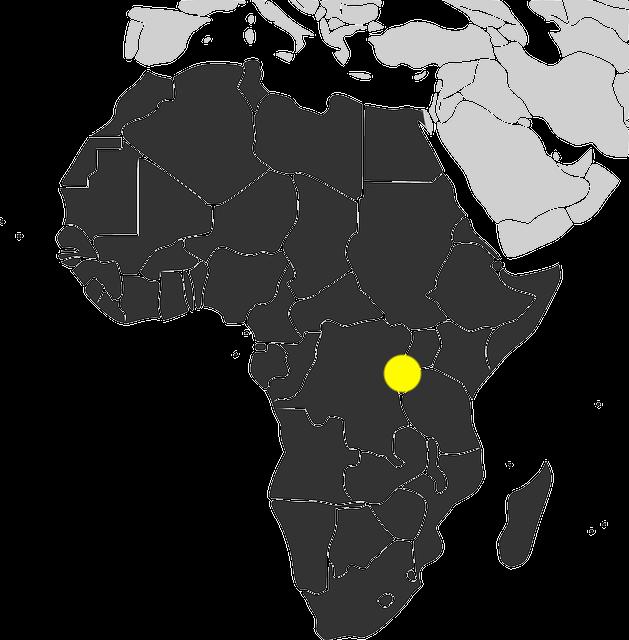 rwanda - mapa afrykii